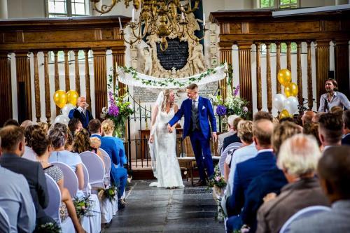 Akoestische live muziek bij een bruiloft ceremonie